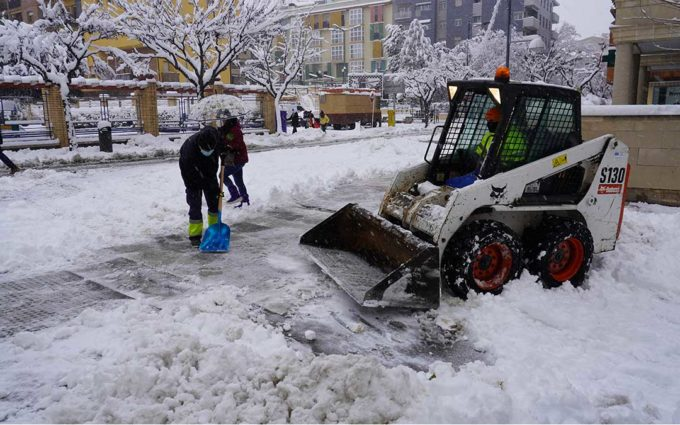 Alerta roja en el Bajo Aragón histórico y posibilidad de hielo tras la borrasca Filomena