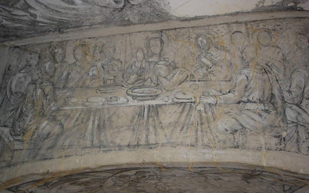 Grisallas de la Ermita de Bordón./Archivo comarcal Maestrazgo