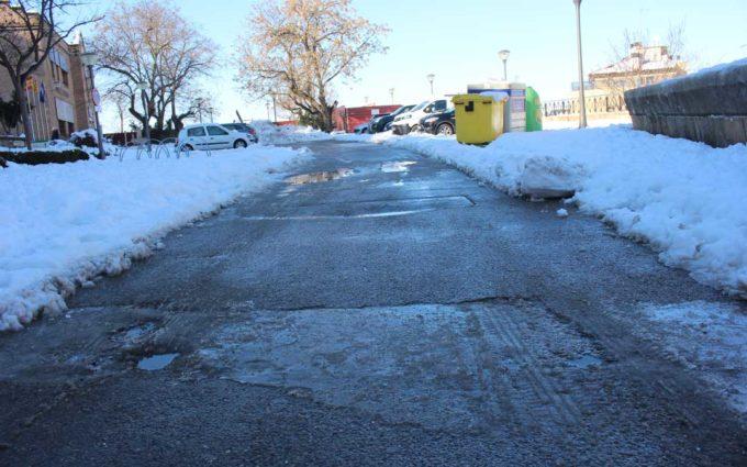 Alerta por frío con heladas fuertes, placas y carámbanos