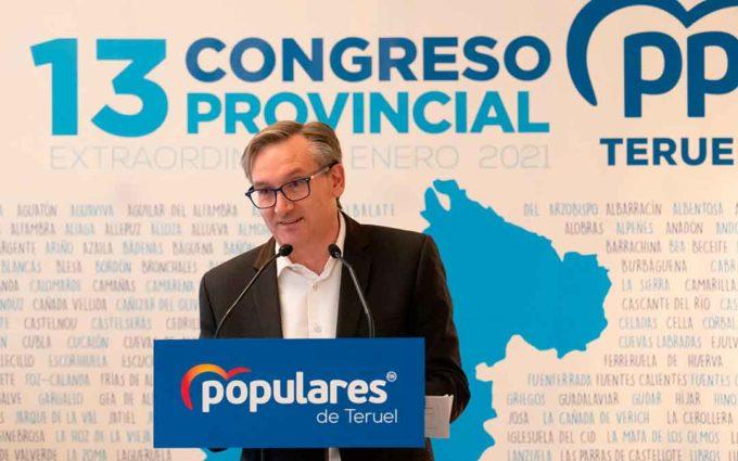 Joaquín Juste es reelegido presidente del Partido Popular de Teruel