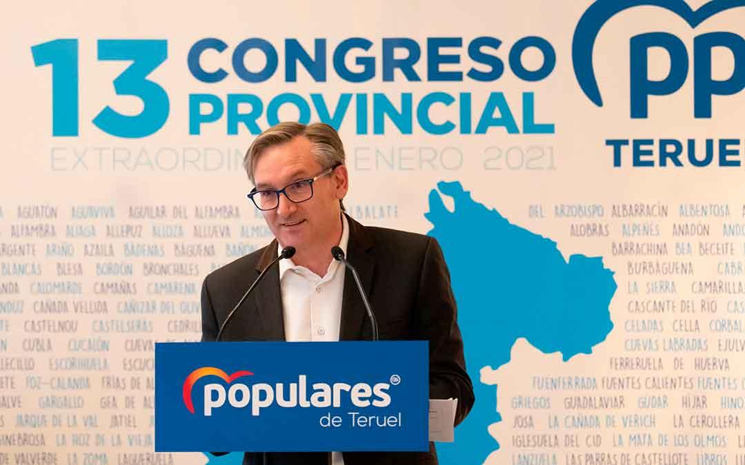 Joaquín Juste en el Congreso del PP en Teruel. Imagen: PP Aragón