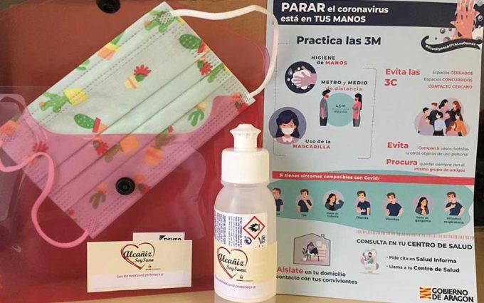 Kits anticovid para los centros educativos de Alcañiz