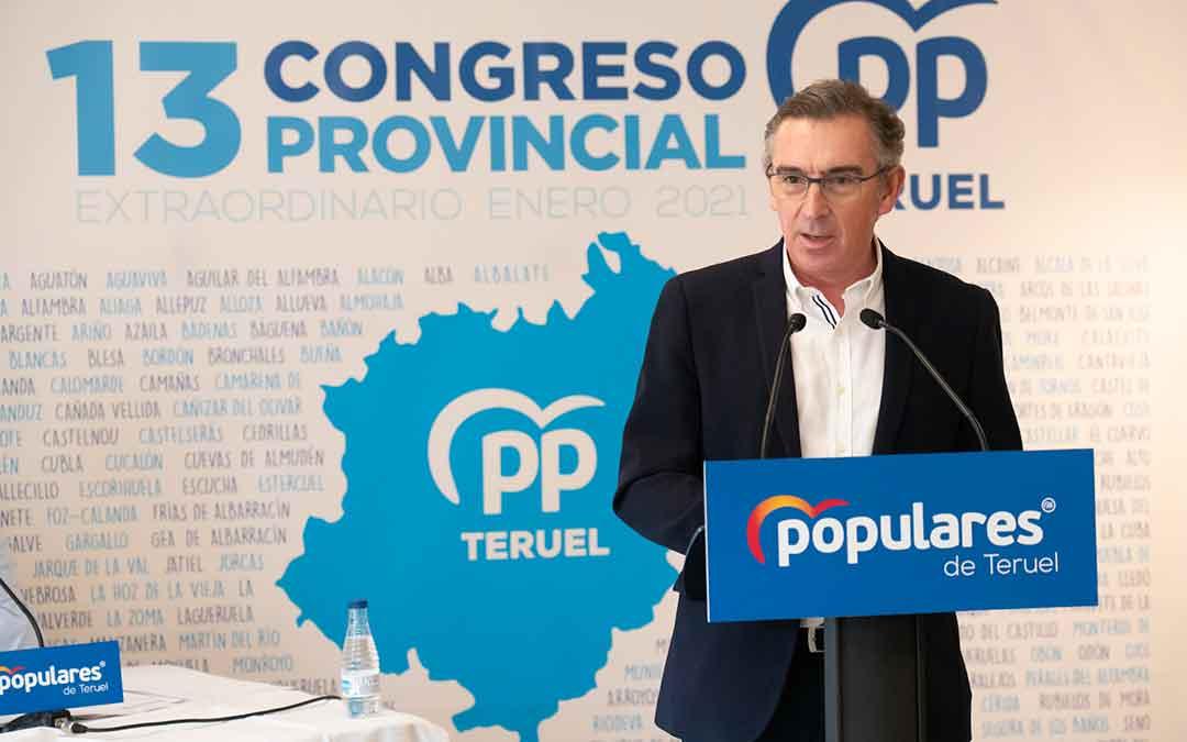 Luis María Beamonte en el Congreso del PP en Teruel. Imagen: PP Aragón