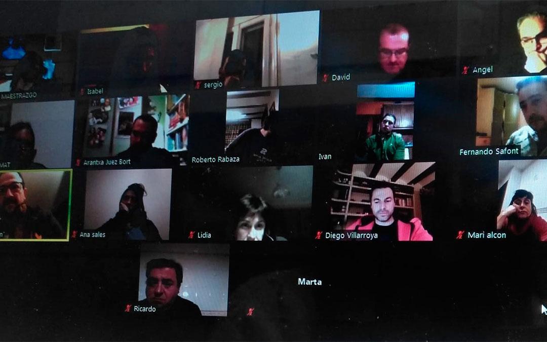 Consejo Comarcal del Maestrazgo celebrado de manera telemática el pasado 20 de enero./ L.C.