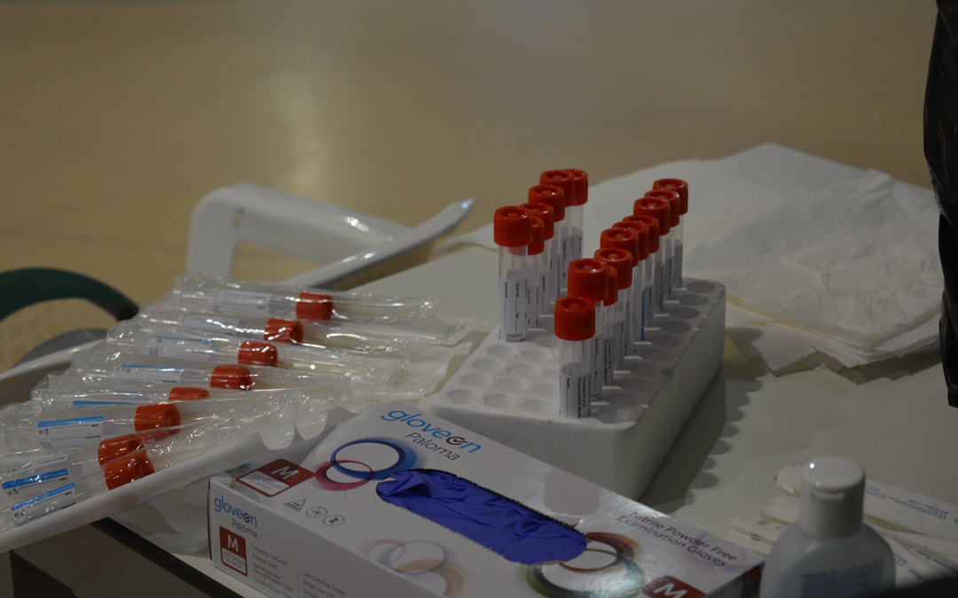 Material médico para la realización de pruebas PCR./I.M.