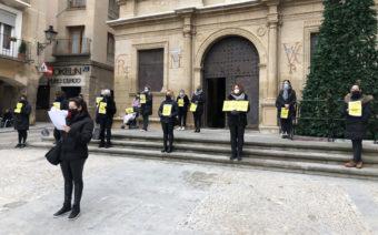 Las peluqueras se concentran en Alcañiz y Calanda para volver al IVA reducido del 10%