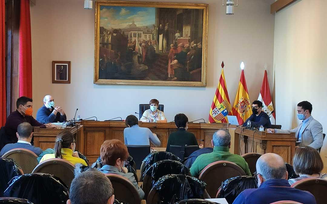 Sesión plenaria del Ayuntamiento de Caspe celebrada el pasado miércoles. Foto: Ayto. Caspe