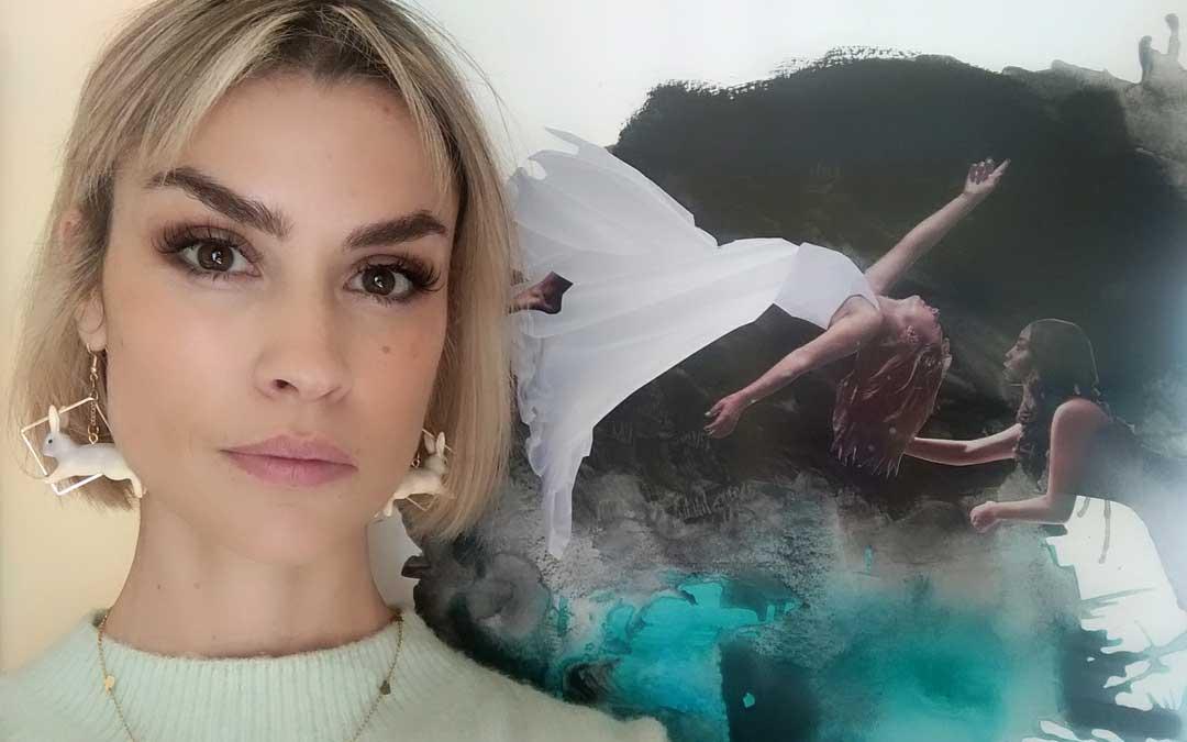 """""""Las amantes flotantes"""", collage digital sobre acrílico soplado que se puede ver en la exposición de Vielha"""
