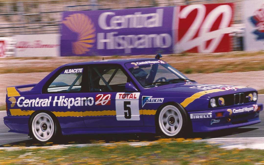 El BMW de Antonio Albacete con el que disputó el nacional de superturismos en 1994. Foto: L.C.