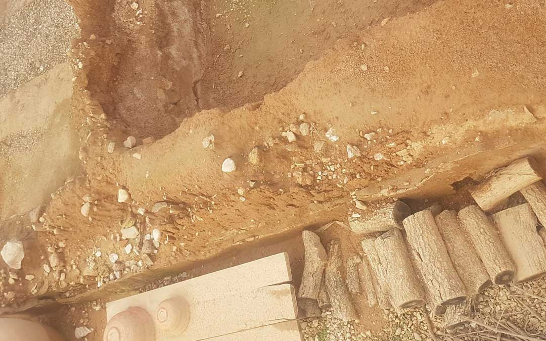 Daños en la Loma del Regadío causados por la borrasca Filomena. /  J. Lafaja / Ayto. Urrea