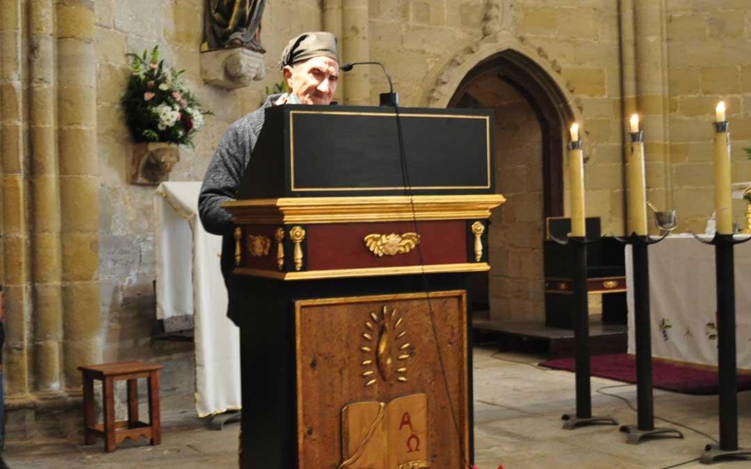 José Serrat ha pronunciado unos dichos que, por primera vez, han tenido lugar en el interior del templo parroquial.