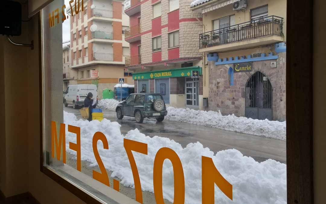 Matarraña Radio durante la nevada provocada por Filomena.