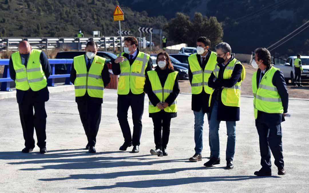 El ministro Ábalos estuvo acompañado de Ximo Puig y del alcalde de Morella entre otras autoridades.