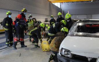Alcañiz acoge las sesiones de formación de nuevos efectivos de la Academia Aragonesa de Bomberos
