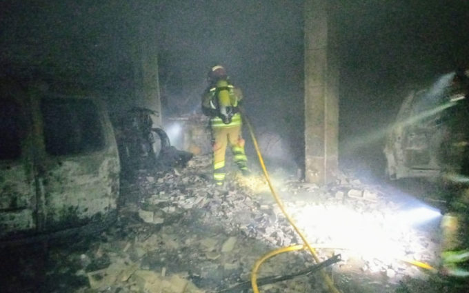 Incendio en el garaje de una vivienda de Beceite