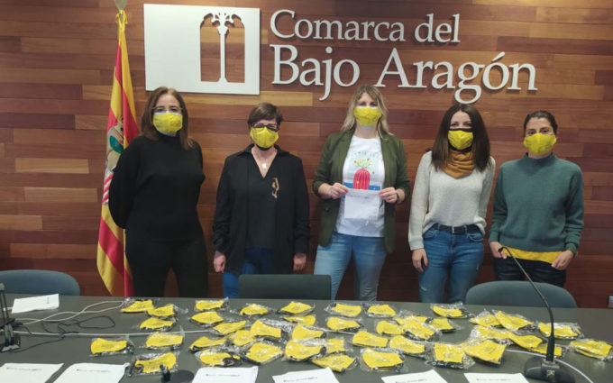 El Área de Mujer de la Comarca del Bajo Aragón repartirá mascarillas con el lema del 8-M