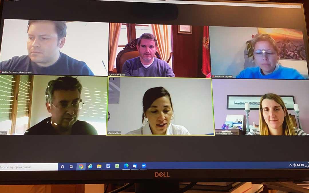 Comisión de Educación del Ayuntamiento de Alcañiz celebrada este martes / Ayto. Alcañiz