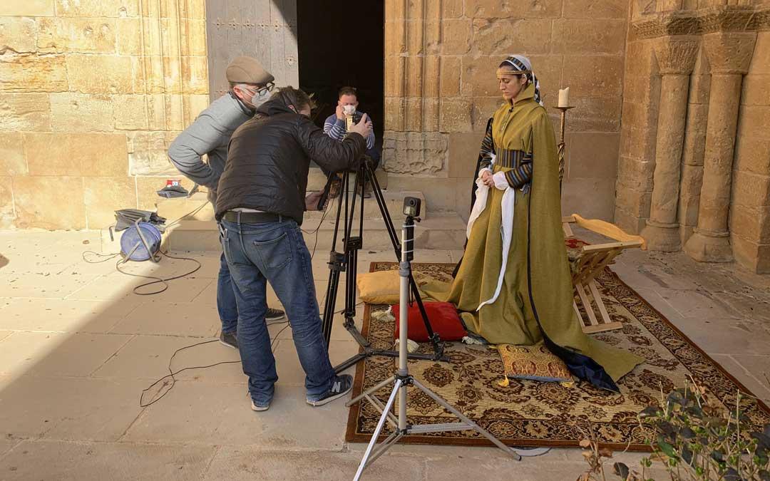 Grabación de uno de los monólogos, el de Tarsia Rizzari, con la actriz Lydia Vera / M. Quílez