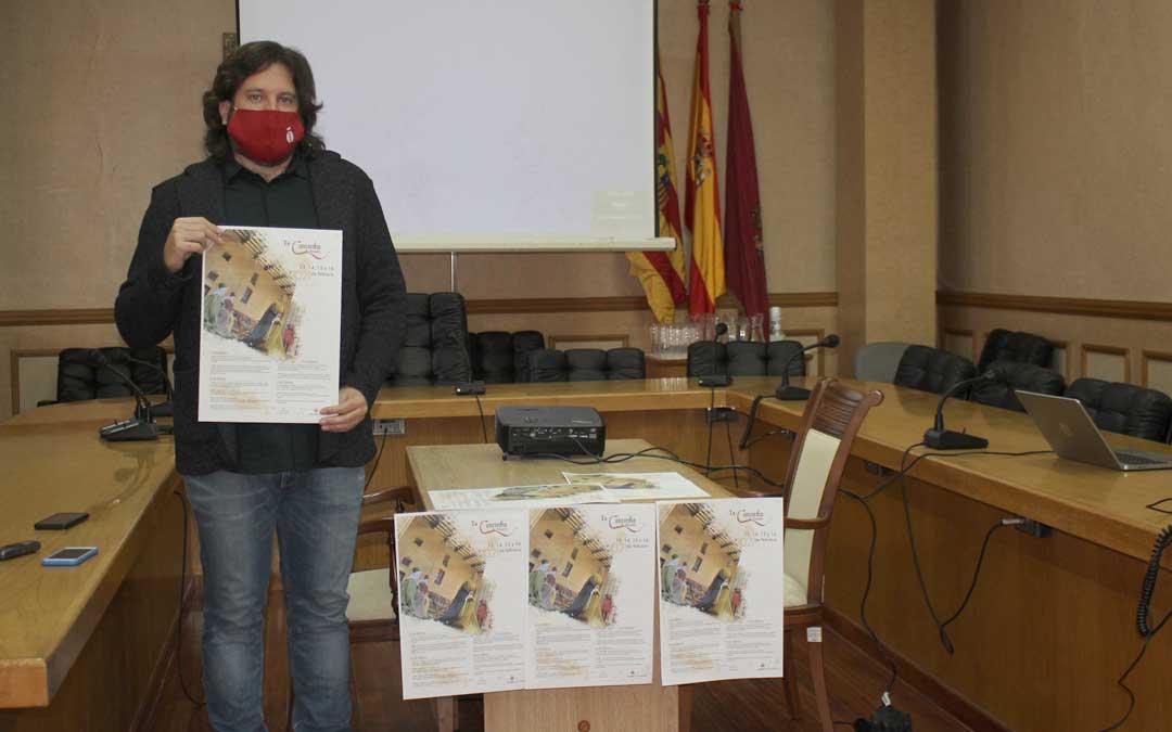 El concejal de Cultura, Jorge Abril, presentando este jueves los actos de la Concordia / L. Castel