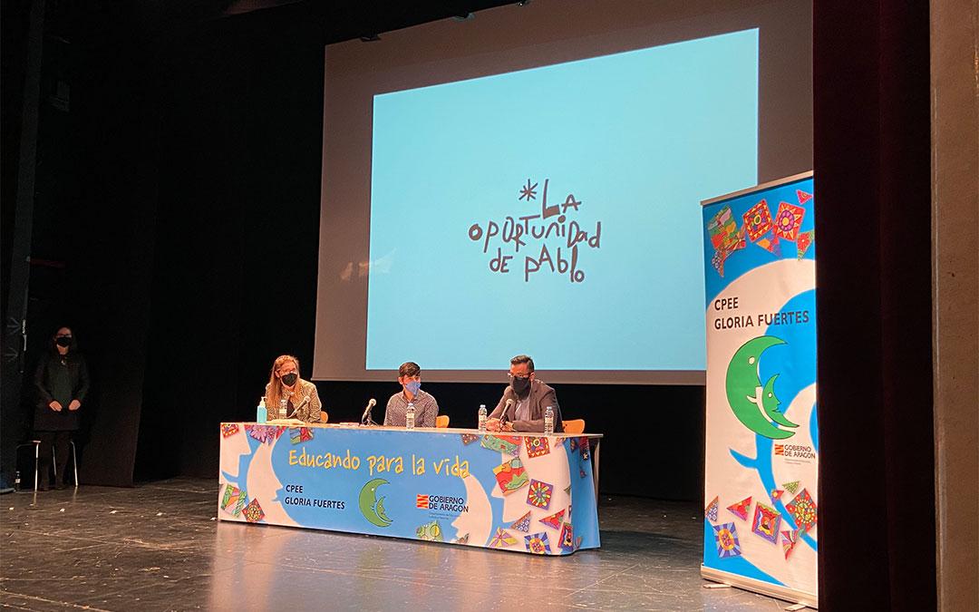Presentación del corto 'La oportunidad de Pablo' en el CPEE Gloria Fuertes./ A. Martín