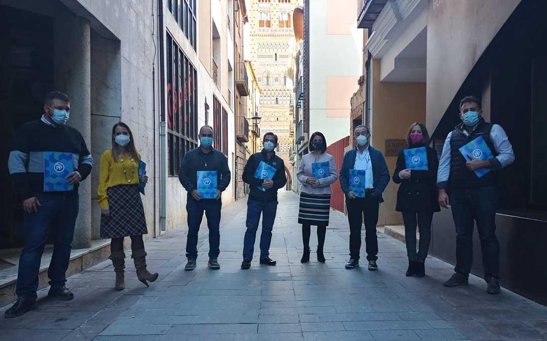 Diputados del grupo del PP en la institución provincial. Foto: D.A.