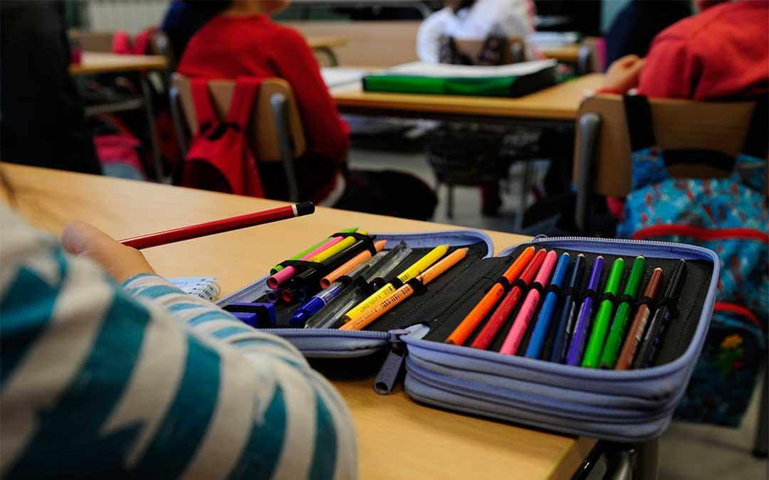 Alumnos en un aula./ DGA