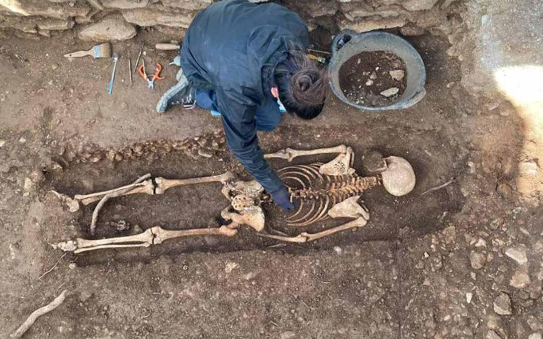 Proceso de exhumación el pasado mes de noviembre./Generalitade Cataluña