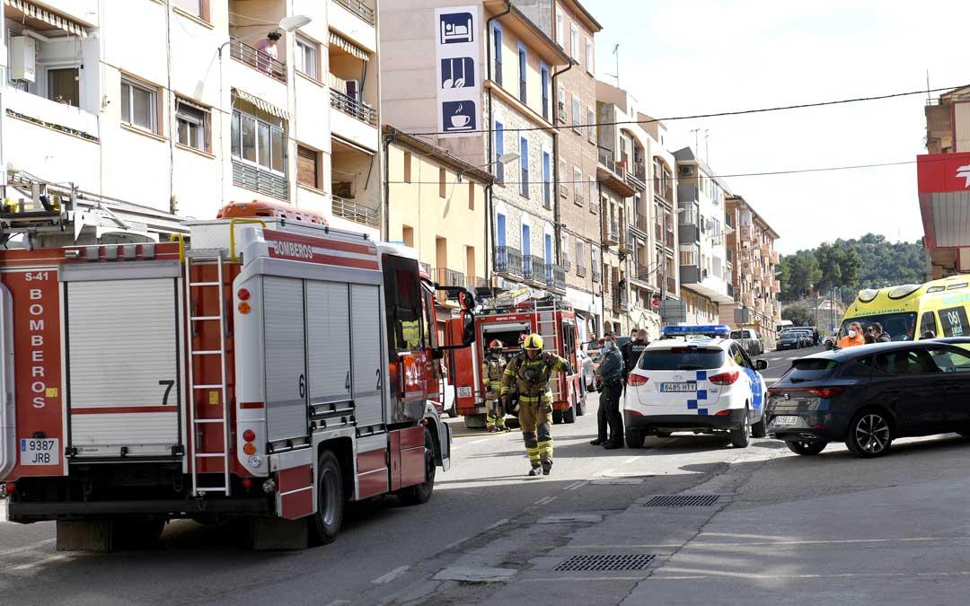 Se ha desplegado un amplio operativo para atender el incendio / Ayto. Alcañiz