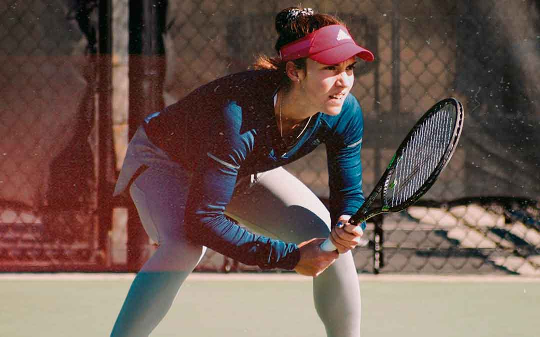 La tenista caspolina concentrada durante la competición que disputó en Atlanta (EEUU)