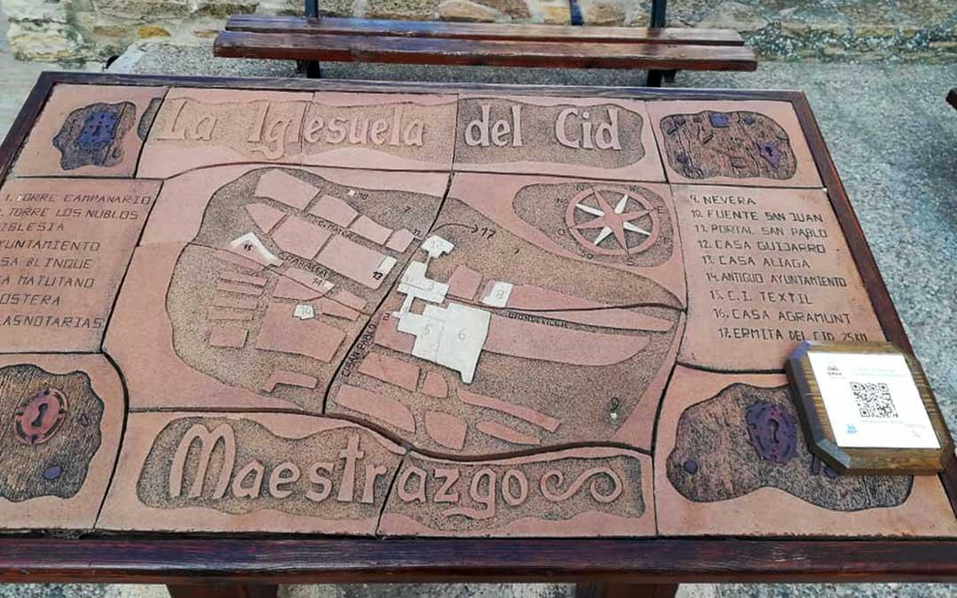 Uno de los códigos QR instalados en La Iglesuela del Cid./ Ayto. La Iglesuela