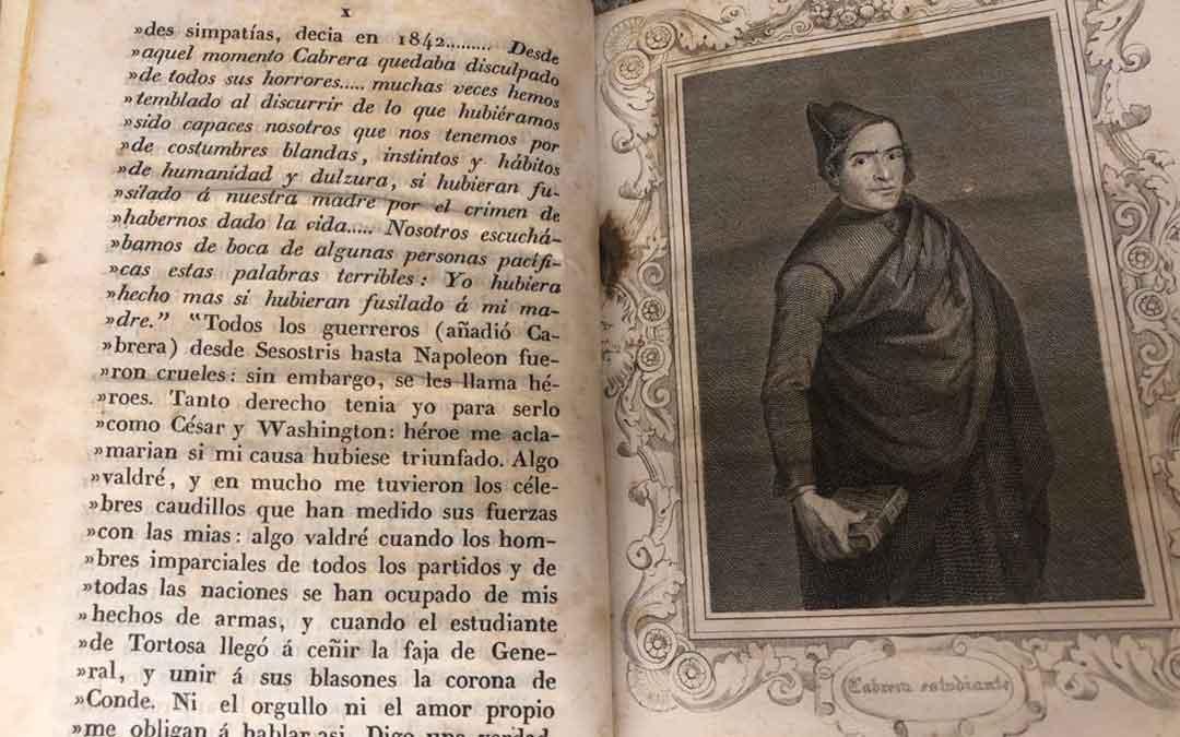 Páginas interiores del nuevo libro adquirido por el Ayuntamiento de Cantavieja para el Museo de las Guerras Carlistas. Foto: Ayto. Cantavieja
