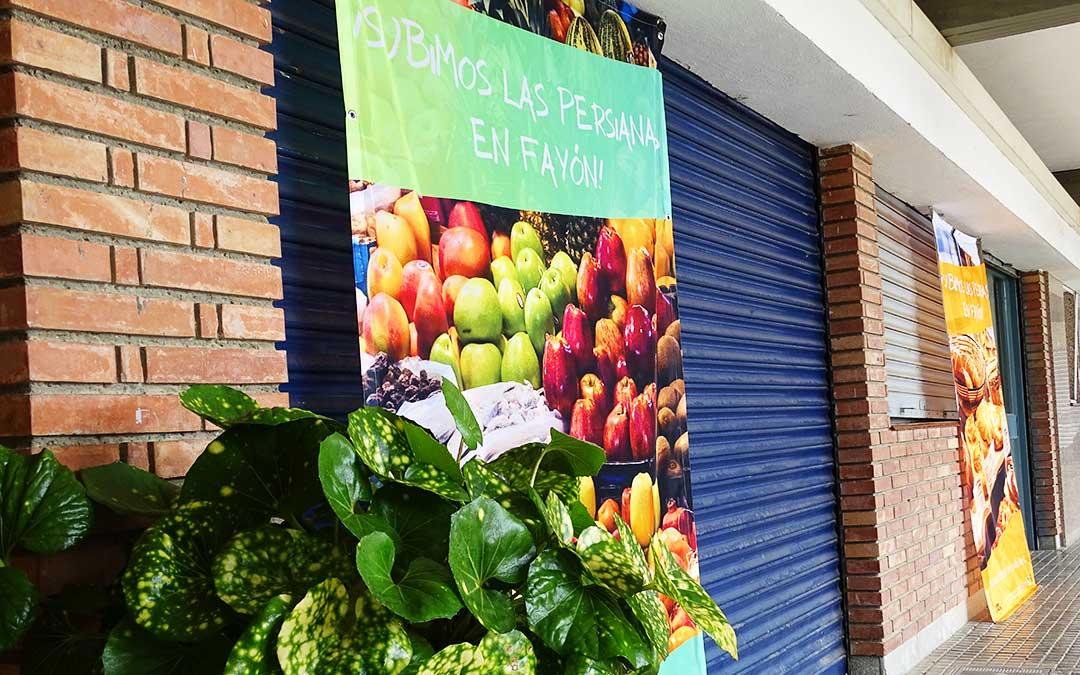 Un local de la Plaza Mayor. Foto: Ayto Fayón.