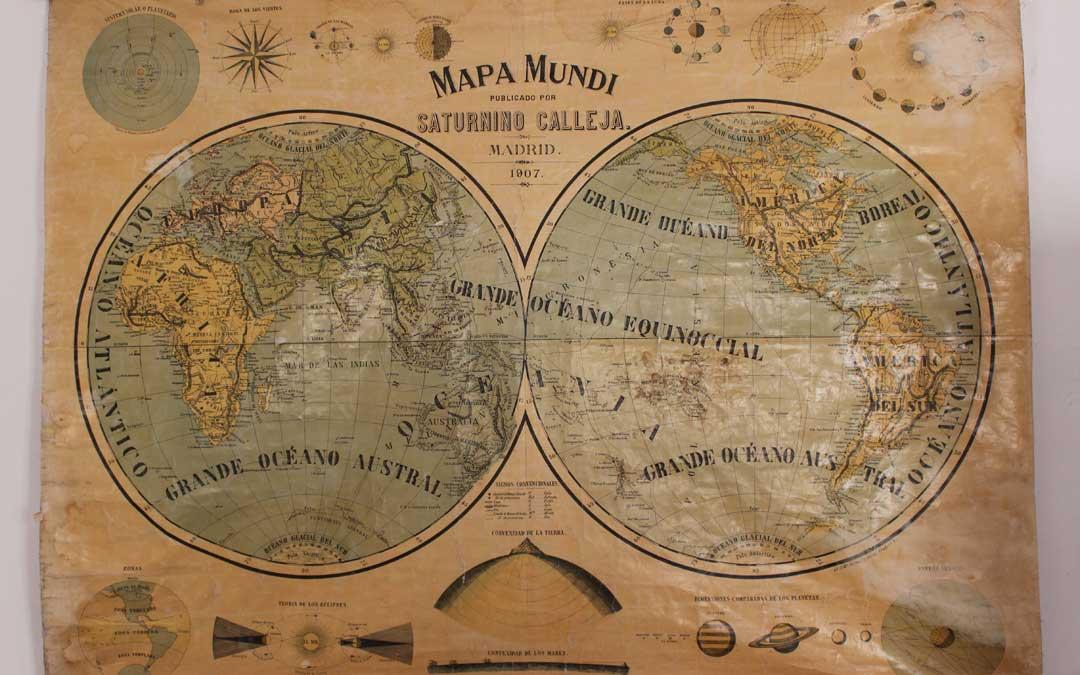 Uno de los mapas restaurados por la comarca del Maestrazgo./Comarca del Maestrazgo