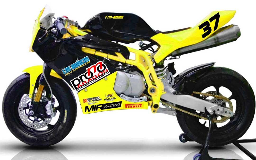 La motocicleta con la que se disputará esta categoría de la Promo Aragón. Foto: FARAM