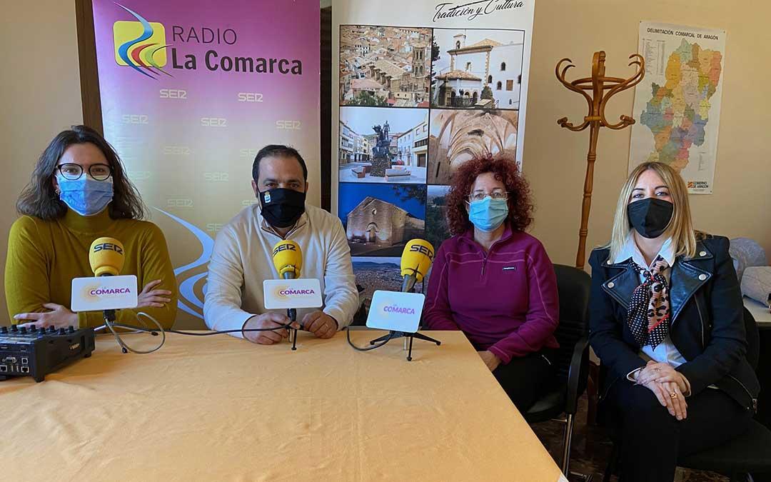 Alicia Martín, Antonio Amador, Marga Santos y Raquel García en el programa especial de Radio La Comarca emitido desde Andorra./ L.C.