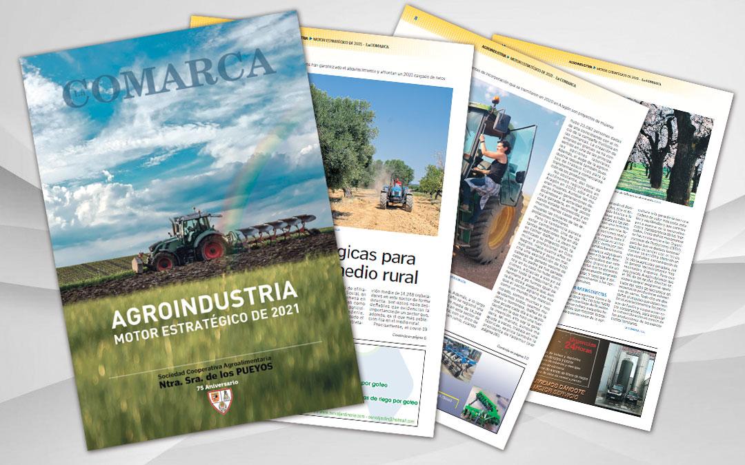 Revista especial 'Agroindustria, motor estratégico de 2021' del periódico La COMARCA./ L.C.