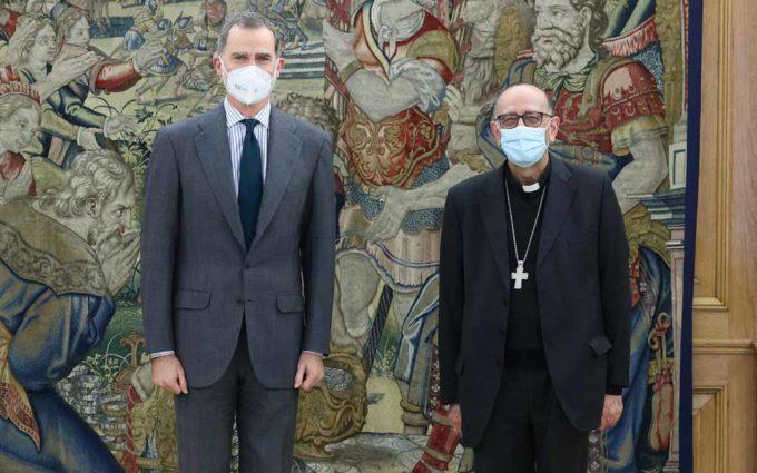 El rey recibe al presidente de la Conferencia Episcopal, el cretense, Juan José Omella