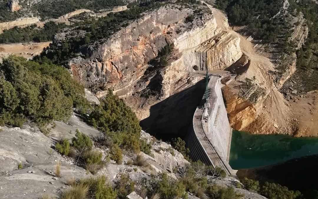 Entorno de la presa de Santolea./ACUAES