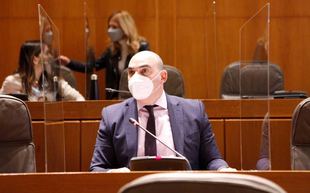 El diputado alcañizano Gracia Suso este jueves en las Cortes de Aragón / PP