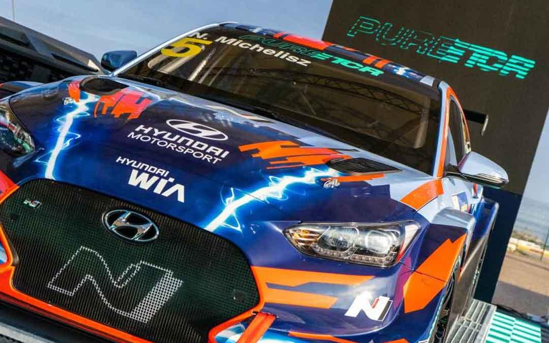 Uno de los vehículos eléctricos de la marca Hyundai que participará en el mundial. Foto: Pure ETCR