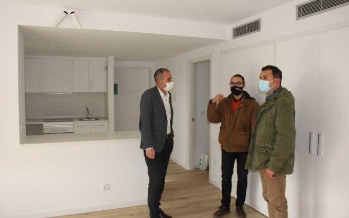 Se ocupan en Alcañiz dos de los seis pisos de alquiler asequible de DGA