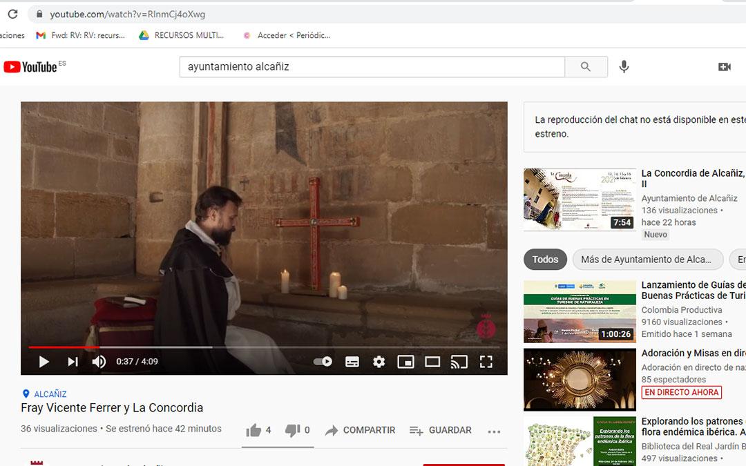 Los actos se pueden seguir en el canal de Youtube del Ayuntamiento de Alcañiz. Emisión del monólogo de Fray Vicente Ferrer este domingo. /M. Q.