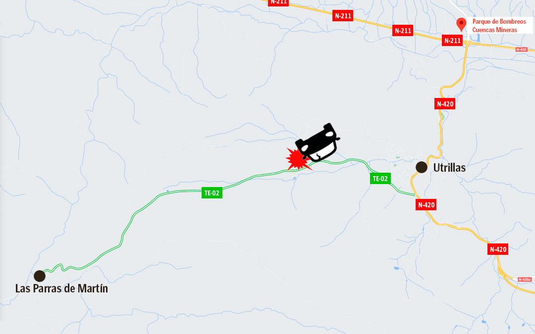 Localización del accidente de tráfico sucedido el pasado 12 de marzo./La Comarca