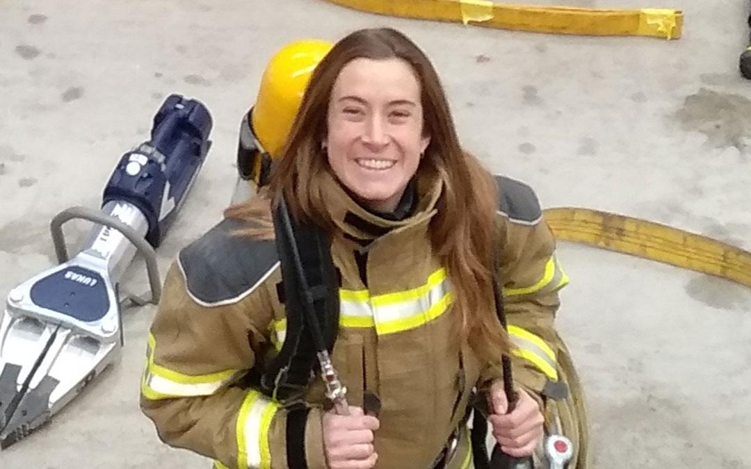 Anabel Sancho, primera bombera en la provincia de Teruel./ A.S.