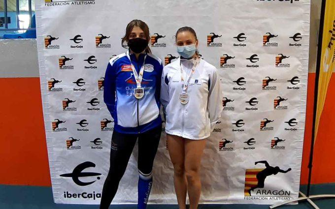 La alcañizana Ariadna Sanz logra el campeonato de Aragón sub 16 de pértiga