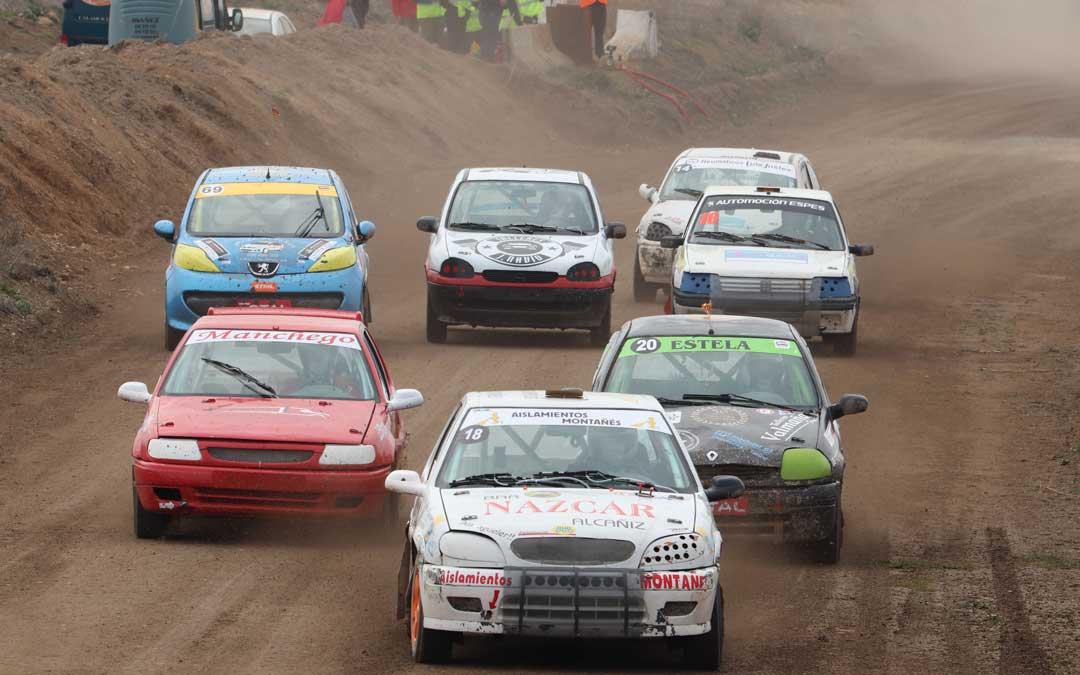 La primera cita del aragonés de autocross se celebró en Calamocha. Foto: FADA