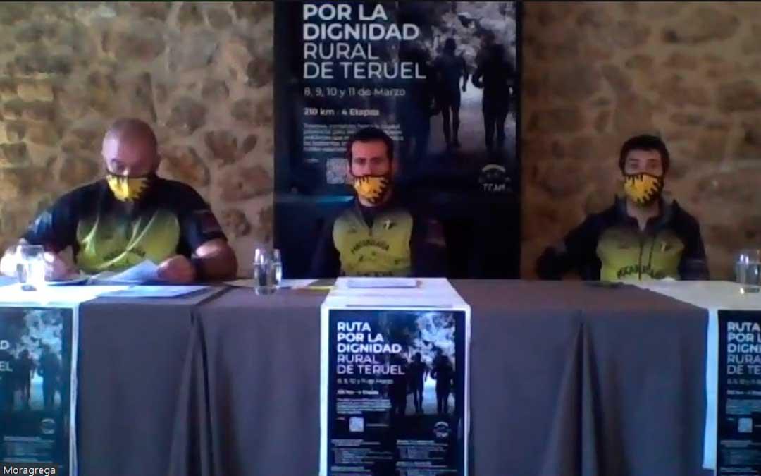 Los participantes del Matarraña Team han ofrecido una rueda de prensa de forma online.