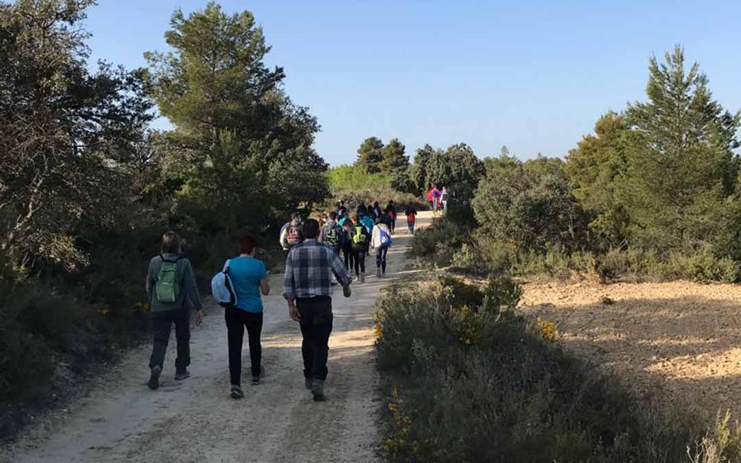 Los participantes se agruparon por núcleos familiares. Foto: comarca del Matarraña.