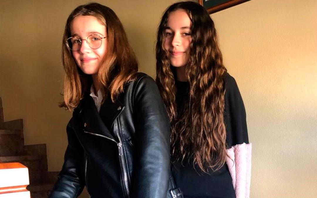 Claudia y Ada, alcañizanas ganadoras del concurso de cómics de Delegación. l.c.