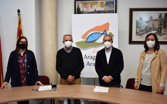 Nuevo convenio de colaboración entre la Comarca del Bajo Aragón-Caspe y la Fundación Atención Temprana
